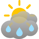 short sunny intervals, frequent rain