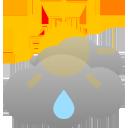 sunny spells, chance of rain showers